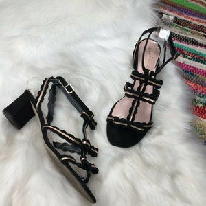 Kate Spade Medea Triple Strap Bow Heel Sandals 7.5